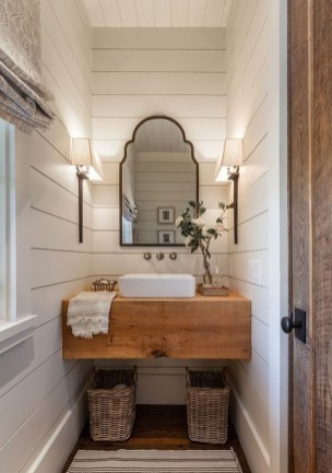 Cool Rustic Modern Bathroom Remodel Ideas 34