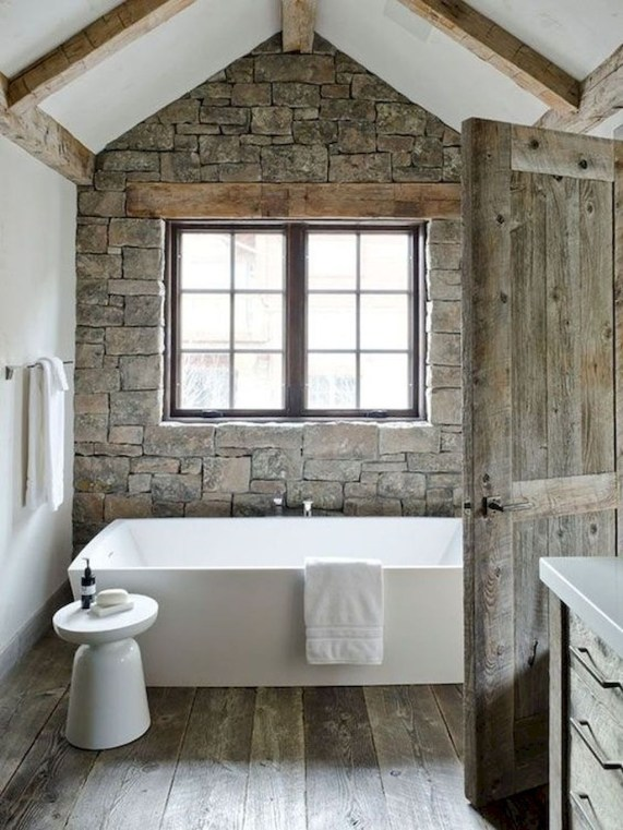 Cool Rustic Modern Bathroom Remodel Ideas 46