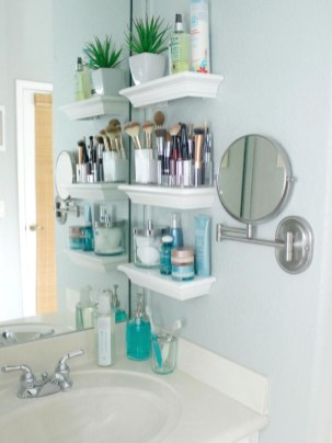 Creative Practical Bathroom Storage Design Ideas26