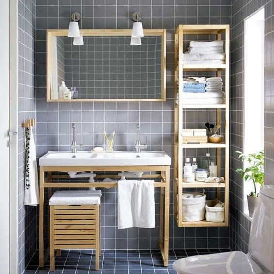 Creative Practical Bathroom Storage Design Ideas42
