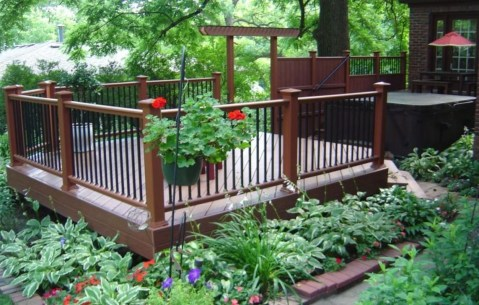 Gorgeous Wooden Deck Porch Design Ideas 20