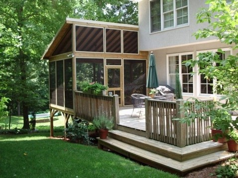 Gorgeous Wooden Deck Porch Design Ideas 30