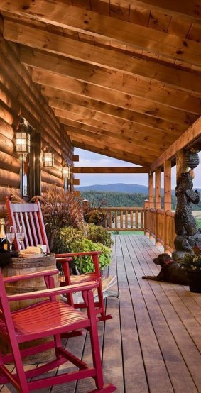 Gorgeous Wooden Deck Porch Design Ideas 35
