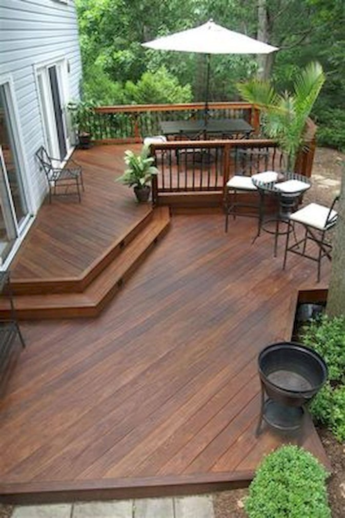 Gorgeous Wooden Deck Porch Design Ideas 47