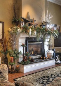 Inspiring Rustic Fall Mantel Decoration Ideas 11