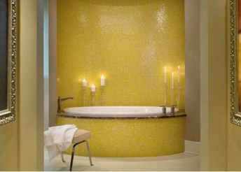Lovely Sunny Yellow Bathroom Design Ideas 12