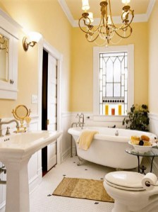Lovely Sunny Yellow Bathroom Design Ideas 19