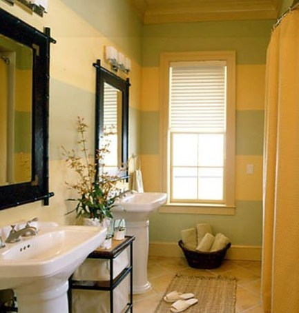 Lovely Sunny Yellow Bathroom Design Ideas 25