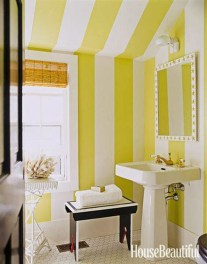 Lovely Sunny Yellow Bathroom Design Ideas 30