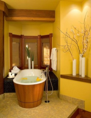 Lovely Sunny Yellow Bathroom Design Ideas 38