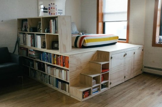 Totally Cool Tiny Apartment Loft Space Ideas 11