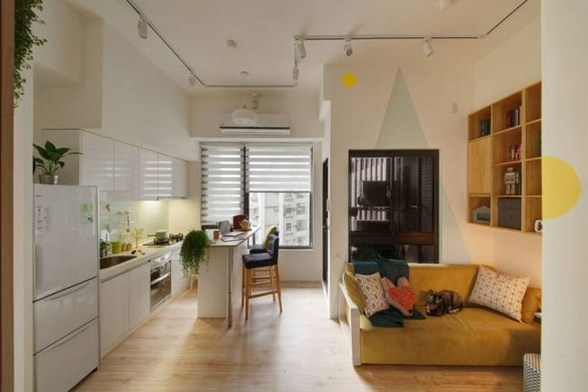 Totally Cool Tiny Apartment Loft Space Ideas 14