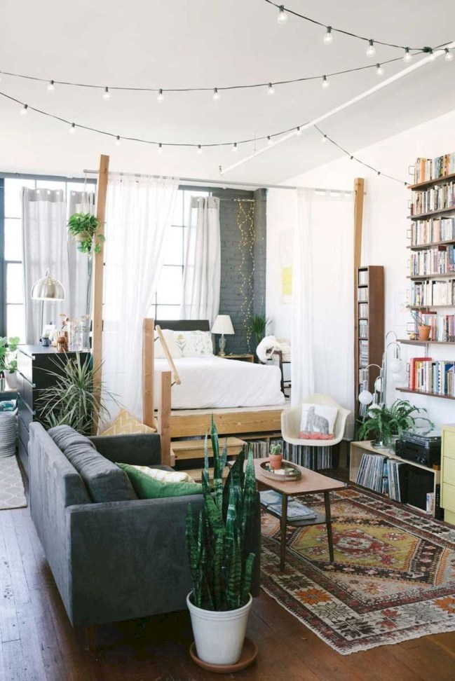 Totally Cool Tiny Apartment Loft Space Ideas 31