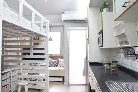 Totally Cool Tiny Apartment Loft Space Ideas 41