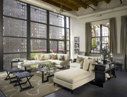 Elegant Loft Style Living Room Design Ideas For Winter 31