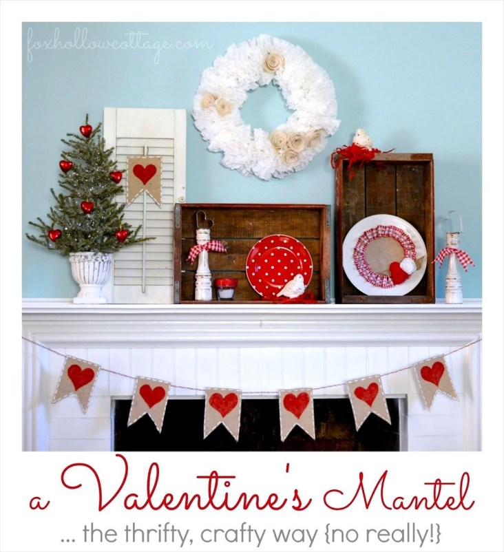 Totally Cool Valentine Mantel Decoration Ideas 14
