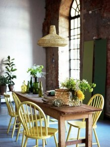 Amazing Rustic Dining Room Table Decor Ideas 12