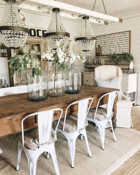 Amazing Rustic Dining Room Table Decor Ideas 33