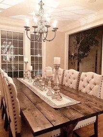 Amazing Rustic Dining Room Table Decor Ideas 41