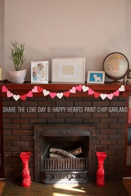 Best Valentines Fire Pit Mantel Decorating Ideas 03