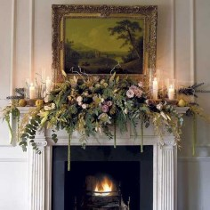 Best Valentines Fire Pit Mantel Decorating Ideas 11