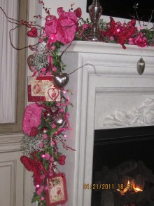 Best Valentines Fire Pit Mantel Decorating Ideas 18