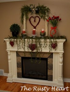 Best Valentines Fire Pit Mantel Decorating Ideas 19