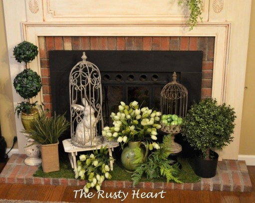 Best Valentines Fire Pit Mantel Decorating Ideas 27