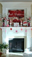 Best Valentines Fire Pit Mantel Decorating Ideas 31