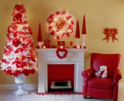Best Valentines Fire Pit Mantel Decorating Ideas 35