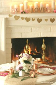 Best Valentines Fire Pit Mantel Decorating Ideas 39