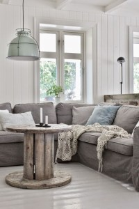 Cute Shabby Chic Farmhouse Living Room Decor Ideas 21