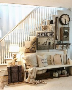 Cute Shabby Chic Farmhouse Living Room Decor Ideas 43