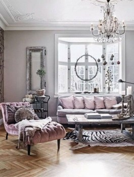 Cute Shabby Chic Farmhouse Living Room Decor Ideas 53