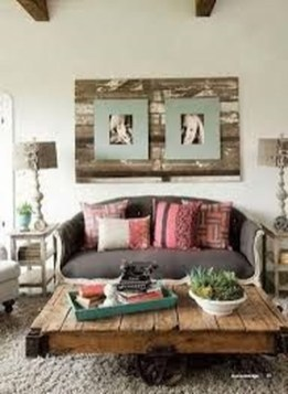 Cute Shabby Chic Farmhouse Living Room Design Ideas 15