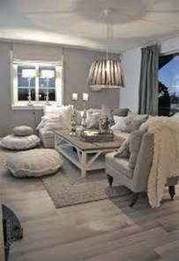 Cute Shabby Chic Farmhouse Living Room Design Ideas 23