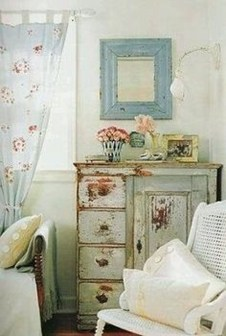 Cute Shabby Chic Farmhouse Living Room Design Ideas 26