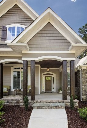 Modern Farmhouse Exterior Designs Ideas 16