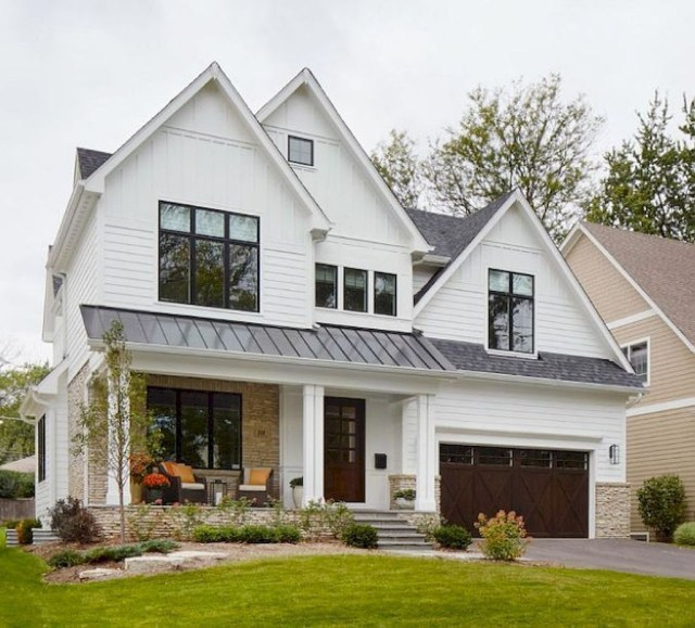 Modern Farmhouse Exterior Designs Ideas 20
