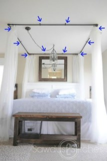 Awesome Canopy Bed With Sparkling Lights Decor Ideas 16