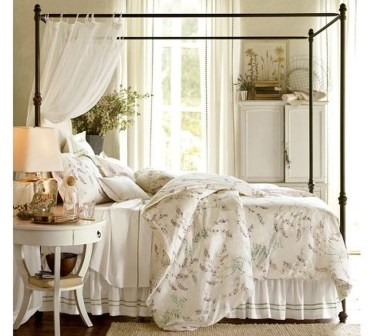 Awesome Canopy Bed With Sparkling Lights Decor Ideas 28