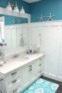 Awesome Coastral Nautical Bathroom Design Ideas 51