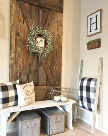 Cute Rustic Farmhouse Home Decoration Ideas 53