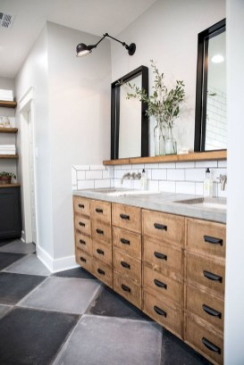 Modern Farmhouse Bathroom Vanity Design Ideas 16