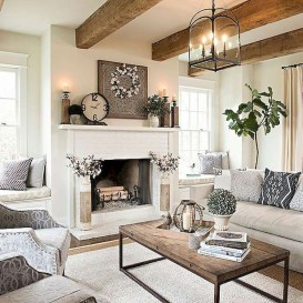 Modern Farmhouse Living Room Decoration Ideas 02