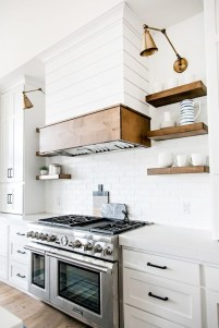 Simple Minimalist Small White Kitchen Design Ideas 37