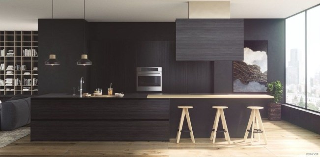 Stunning Luxury Black Kitchen Design Ideas 38