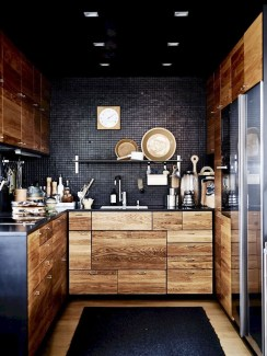 Stunning Luxury Black Kitchen Design Ideas 45