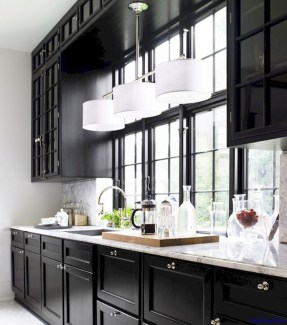 Stunning Luxury Black Kitchen Design Ideas 46