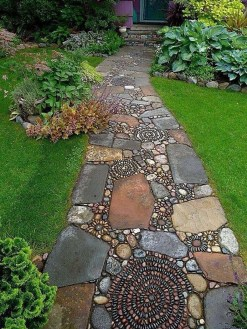 Stylish Stepping Stone Pathway Décor Ideas 49